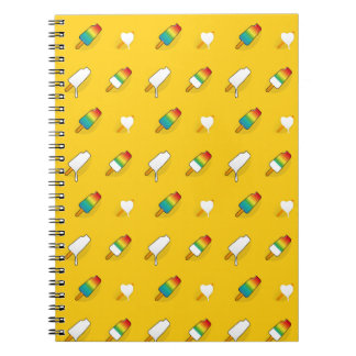Ice cream pop art cool bright rainbow pattern notebook