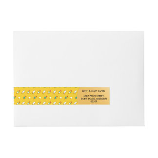 Ice cream pop art cool bright rainbow pattern wraparound address label