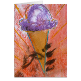 """Ice Cream Propoganda"" Note Card by Brad Hines"