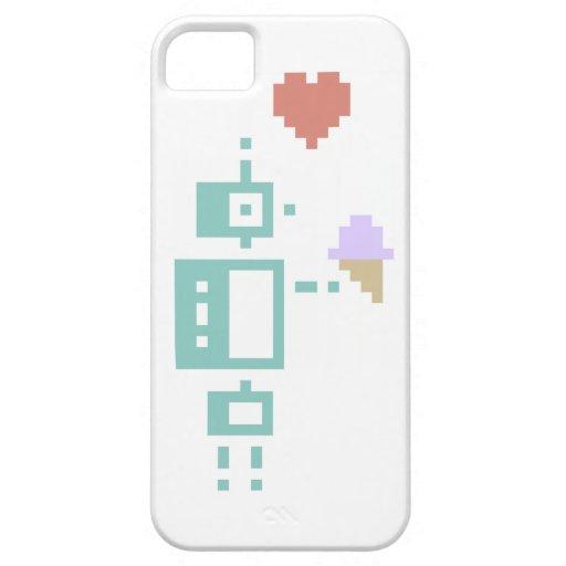 Ice Cream Robot Pixel Art iPhone 5 Covers