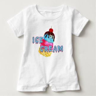 Ice Cream Romper Baby Bodysuit