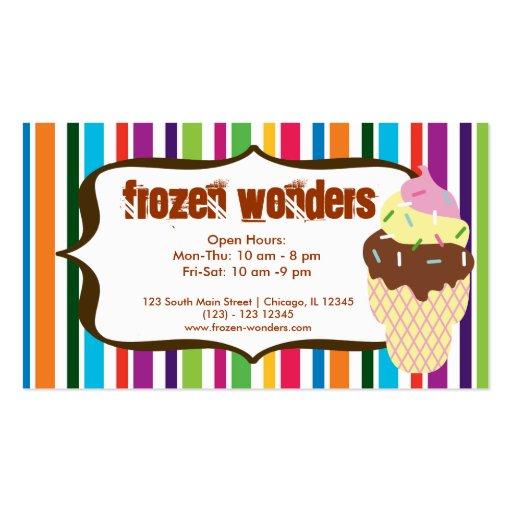 Ice Cream salon Business Card Templates