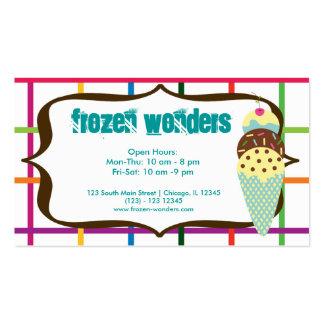 Ice Cream Salon Business Card Template