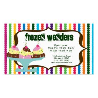 Ice Cream salon Business Cards