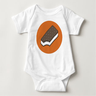 Ice Cream Sandwich — Orange Baby Bodysuit