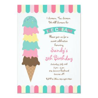 Ice Cream Scoops Invitation