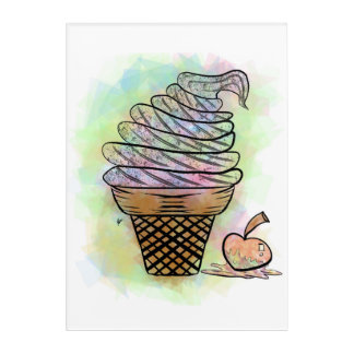 Ice Cream Shard Acrylic Wall Art