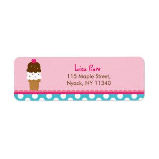 Ice Cream Shop Address Labels