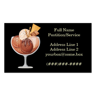Ice Cream Shop Pack Of Standard Business Cards