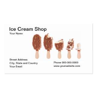 Ice Cream Shop Business Card Business Card
