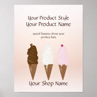 Ice Cream Shop Ice Cream Cones Product Sign