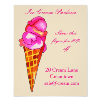 Ice-cream shop Ice cream parlour advertisement Flyer