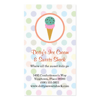 Ice Cream Shop Loyalty Rewards Pack Of Standard Business Cards