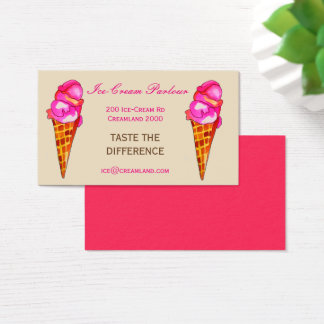 Ice-cream shop or business business card