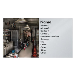 Ice Cream Shop - The Soda Fountain Pack Of Standard Business Cards