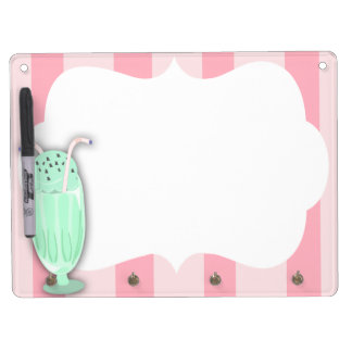 Ice Cream Social Dry Erase Board With Key Ring Holder
