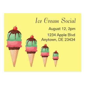 Ice Cream Social Postcard