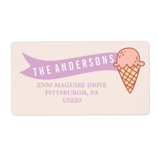 ICE CREAM SOCIAL RETURN ADDRESS LABEL