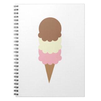 Ice Cream Spiral Note Book