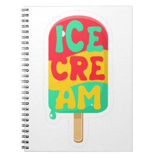 Ice-cream Spiral Notebook