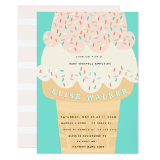 Ice Cream Sprinkle Baby Sprinkle Invite
