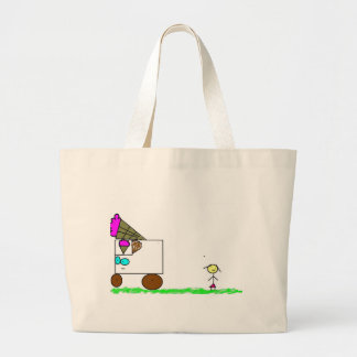 Ice cream stand large tote bag