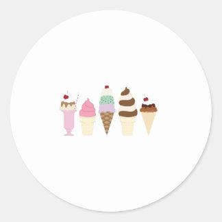Ice Cream Classic Round Sticker