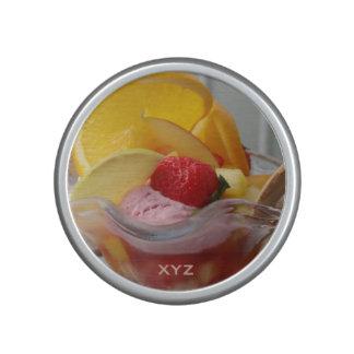 Ice Cream Sundae custom monogram bluetooth speaker