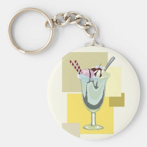 Ice Cream Sundae Keychain