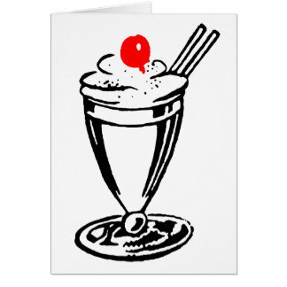 Ice Cream Sundae with Cherry on Top Greeting Card