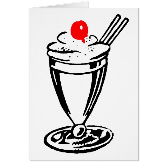 Ice Cream Sundae with Cherry on Top Card