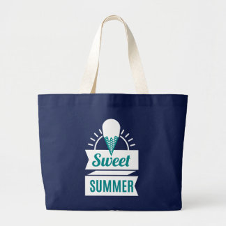Ice Cream. Sweet Summer. Large Tote Bag
