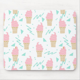 Ice Cream Triangle Pastel Pink / Andrea Lauren Mouse Pad