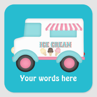 Ice Cream Truck add words sticker