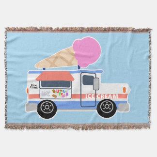 Ice Cream Truck Throw Blanket