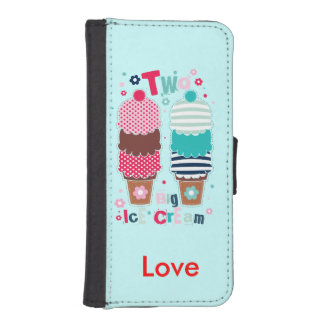 Ice Cream Two Personalized Phone Wallet Case