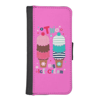 Ice Cream Two Pink iPhone 5 Wallet Case