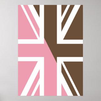 ice-cream Union Jack British UK Flag Poster