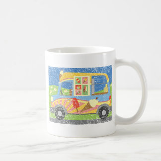 Ice Cream Van Worn Look Coffee Mug