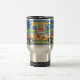 Ice Cream Van Worn Look Travel Mug