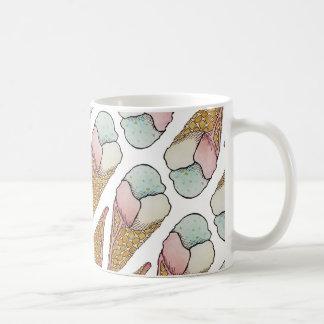 ice cream waffle cone basic white mug