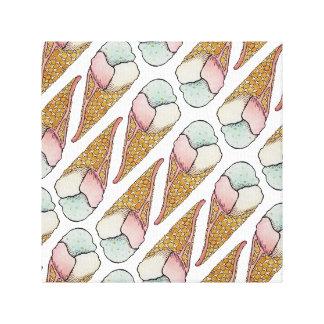 Ice Cream Waffle Cone Canvas Print