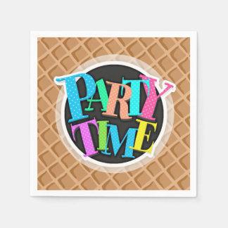 Ice Cream Waffle Cone Pattern Paper Napkins
