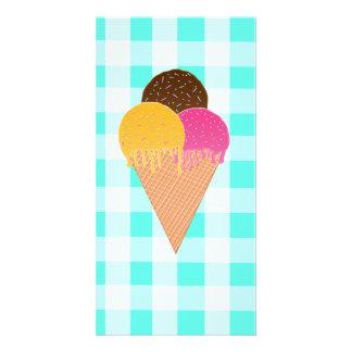 ice-cream waffle cone picture card