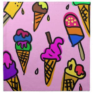 Ice Cream Wallpaper Napkin