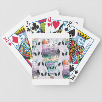 ice cream with foreign fund bicycle playing cards