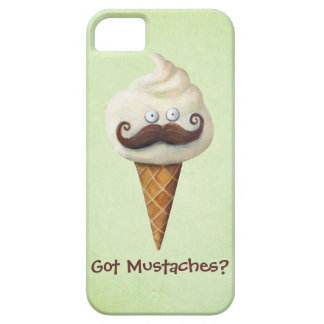 Ice Cream with Mustaches iPhone 5 Covers