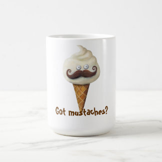 Ice Cream with Mustaches Coffee Mugs