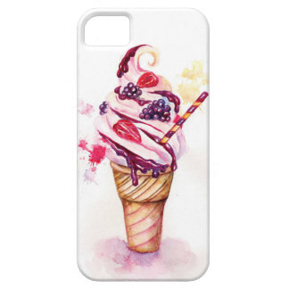 Ice cream with strawberry and blackberry iPhone 5 covers