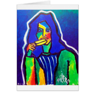 Ice Cream Woman by Piliero Greeting Card